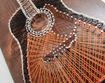 Guitar String Art - MADE TO ORDER (Sunburst, Music, Thread, Musician)