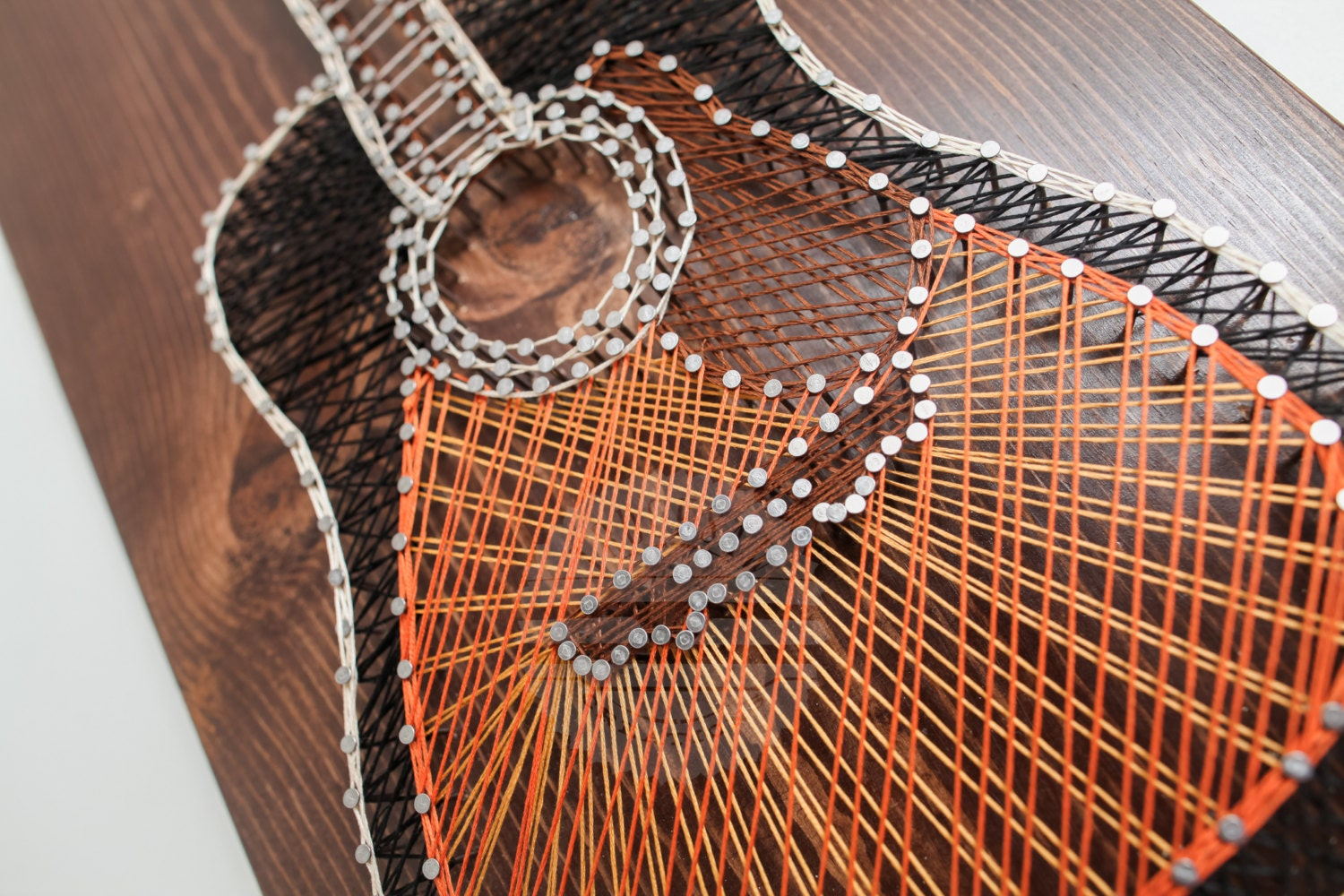 Guitar String Art Made To Order Sunburst Music Thread