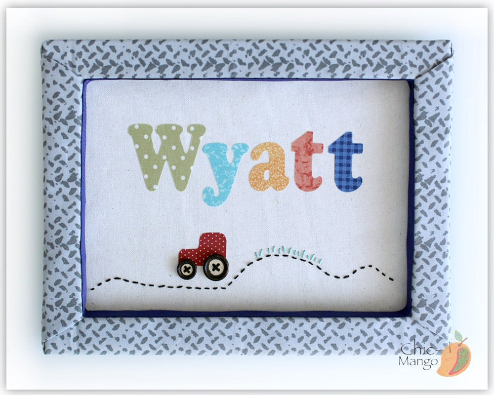 Personalized kids wall art baby boy personalized gift name for Custom wall art