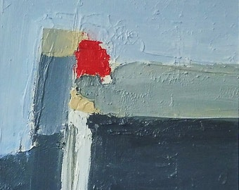 RED ONE. Original Abstract Landscape Acrylic Painting.