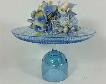 Icy Blue Custom Made Cake Stand