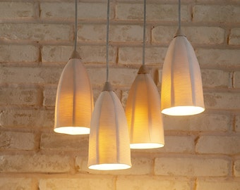 Lighting design and ceramics by rachel by rachelnadlerceramics ceramic lighting hanging chandelier ceiling lighting pendant light fixture mozeypictures Images