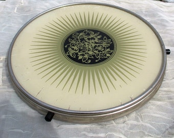 Vintage Rotating Cake stand Plate Lazy Susan Turntable