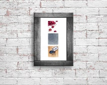 Cute kitchen decor. Poetry wall art with cherries, rain, keys. Whimsical nursery, kids bedroom, living room cute prints. INSTANT DOWNLOAD