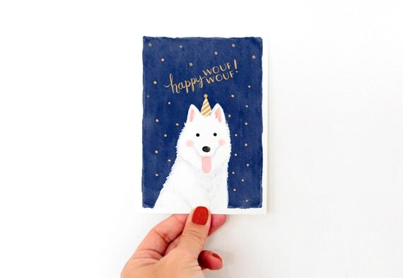 New Year or Birthday Cards: Happy WOUF WOUF!