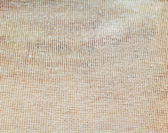 "Burlap Jute Hessian Ivory Fabric 34"" By the Yard Jute 100% Natural"