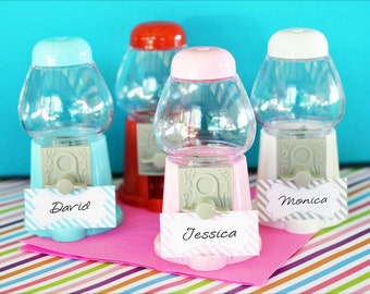 Mini Gumball Machine Place Card Holders, Set of 12