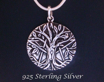 Tree of Life Necklace Sterling Silver Celtic Design, Tree of Life Necklace with Intricate Tree of Life Pendant 098 Gift Idea, Celtic Jewelry