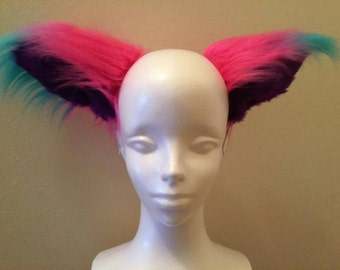 Giant Blue, Pink and Black Cat Ears