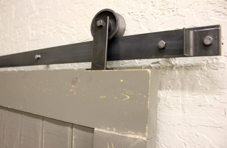 Top mount sliding barn door hardware for double dooor for Top mount barn door hardware