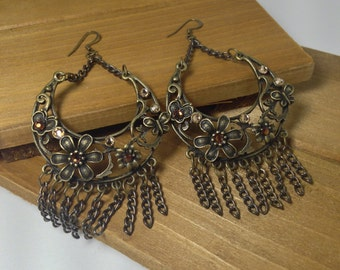 Boho Floral Chandeller Earrings