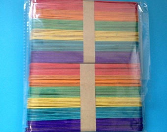 Jumbo Lollipop Sticks (Coloured or Plain)