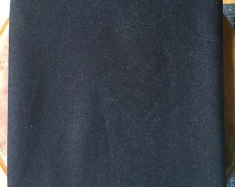 Black wool suiting fabric vintage