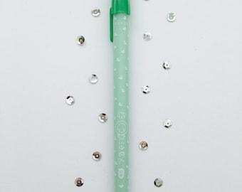 Gel pen, 0, 5 mm point, forest green (dark coffee), Scheduler, stationary