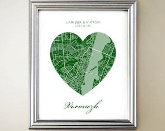 Voronezh Heart Map