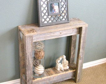 Natural Unfinished Farmhouse End Table