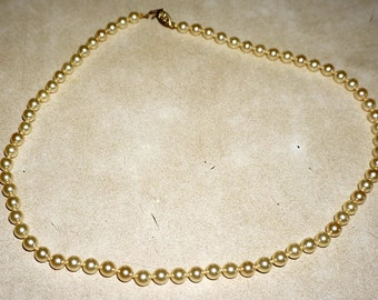 "Gorgeous Antique Champagne Pearl 18"" Necklace"