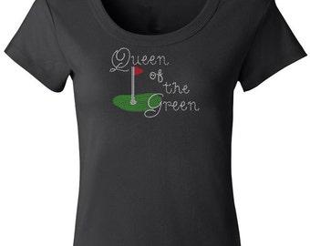 Queen of the Green Rhinestone Shirt