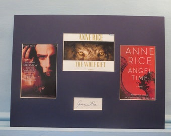 Famed author Anne Rice and her novels - Interview with the Vampire, Angel Time and The Wolf Gift  & her autograph