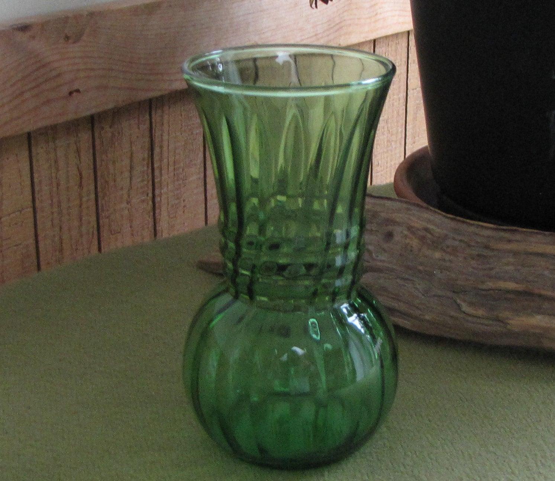 Vintage green flower vase small florist ware greenery by anchor vintage green flower vase small florist ware greenery by anchor hocking reviewsmspy