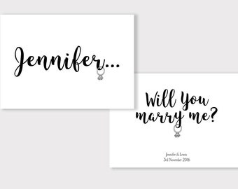 Will You Marry Me Proposal Card