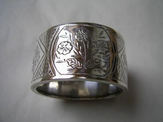 unique antique aesthetic silver napkin ring hallmarked