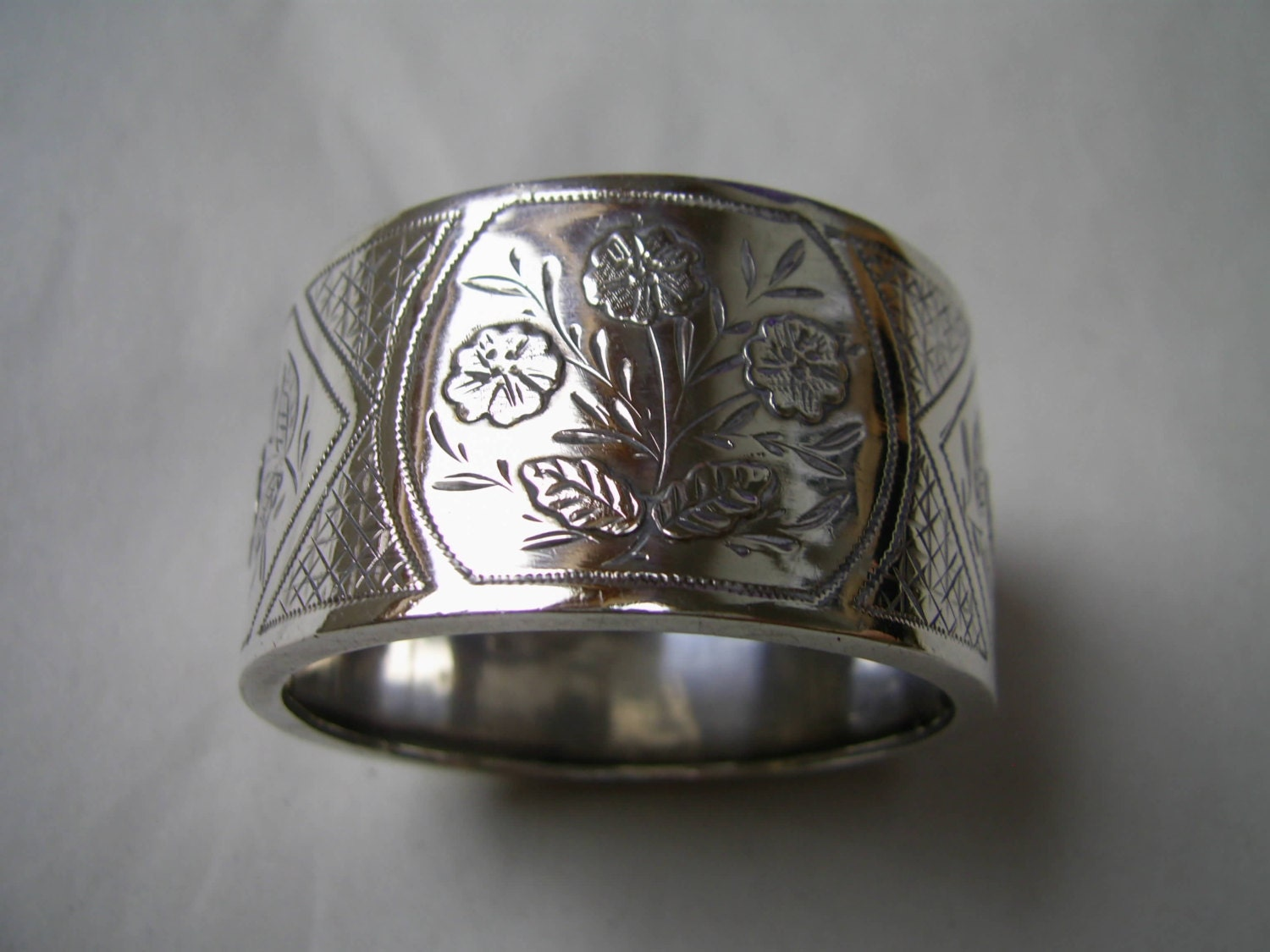 unique antique aesthetic silver napkin ring hallmarked