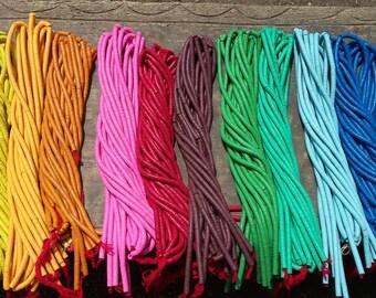 "8 mm. African vulcanite vinyl disc beads, strand 15/16"", 16 colors, Fair Trade"