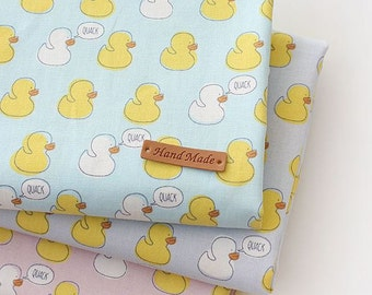 Baby Duck Pattern 20s Cotton Oxford Fabric by Yard -  3 Colors Selection