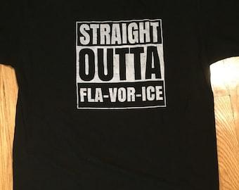 "NWA ""Straight Outta Fla-Vor-Ice"" parody shirt"