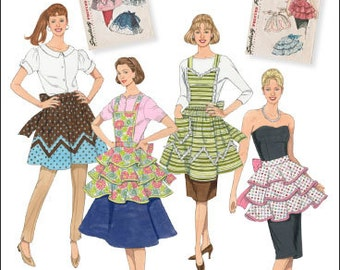 Simplicity Sewing Pattern 2592 1950's Vintage Aprons