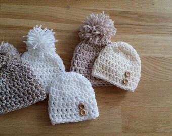 Crochet baby hat (OFFER) New born, 0-3 / 3-6 Months