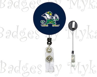 Retractable ID Badge Holder - Notre Dame 1