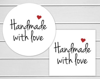 Handmade With Love Labels, Thank You Stickers (#147)
