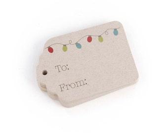 Christmas Tags, 24 Christmas Tags, Christmas Gift Tags (ST-109-KR)