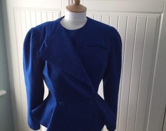 1980s Peplum jacket by Trarilla Size 10