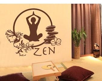 Summer Sale - 20% OFF Zen wall decal, sticker, mural, vinyl wall art