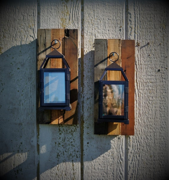 Rustic Wall Sconces Reclaimed Wood Candle By CountryBugCrafts