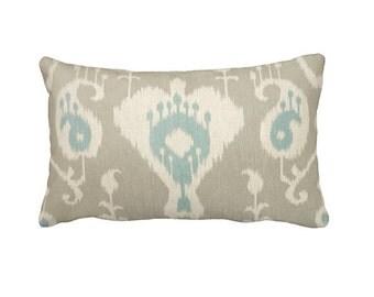 Beige Lumbar Pillow Cover Beige Ikat Pillow Cover Beige Throw Pillow Cover Beige Pillows Taupe Pillow Decorative Pillows for Bed Toss Pillow
