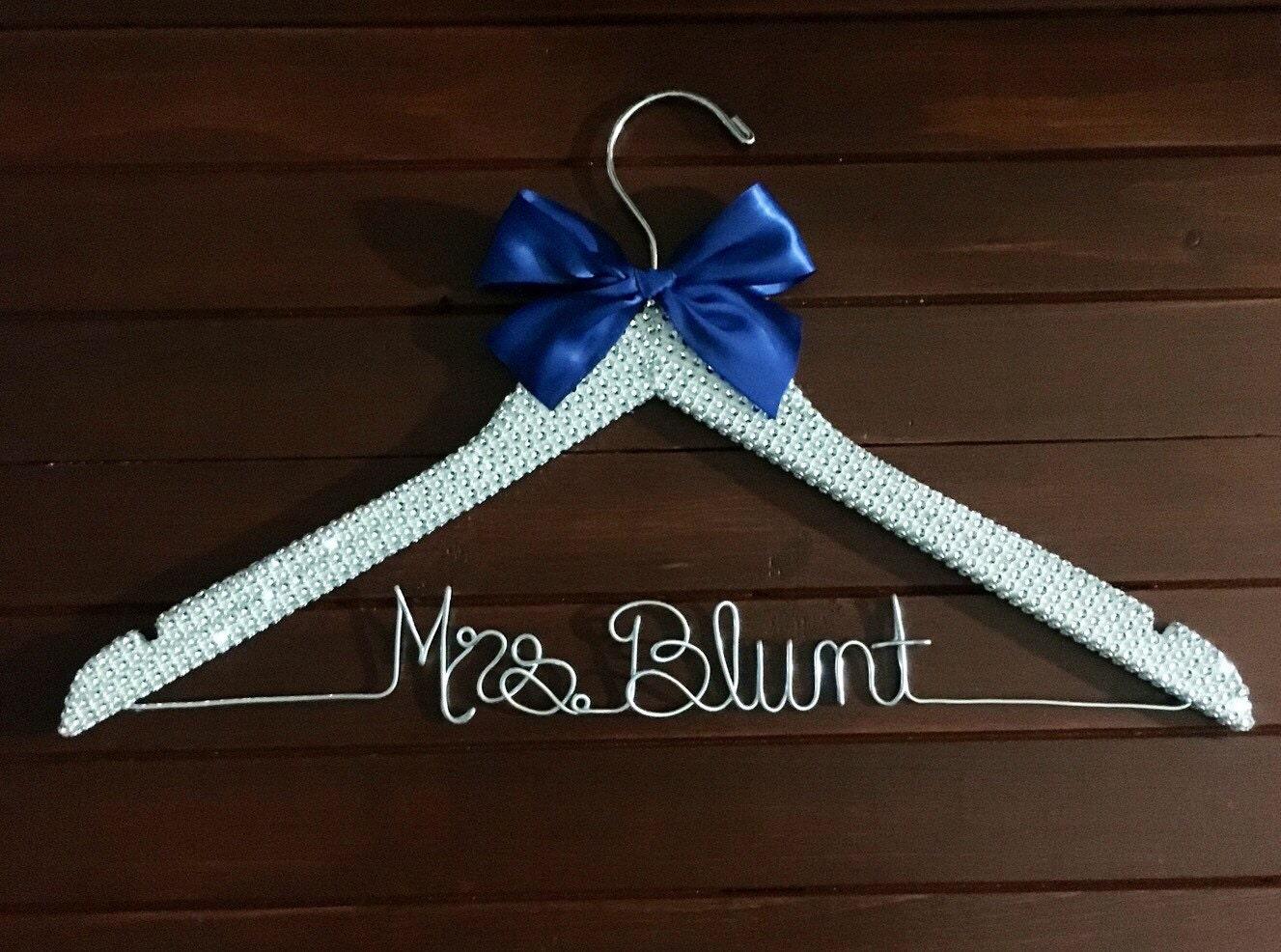 Wedding dress hanger rhinestone bridal hanger cinderella for Hangers for wedding dresses