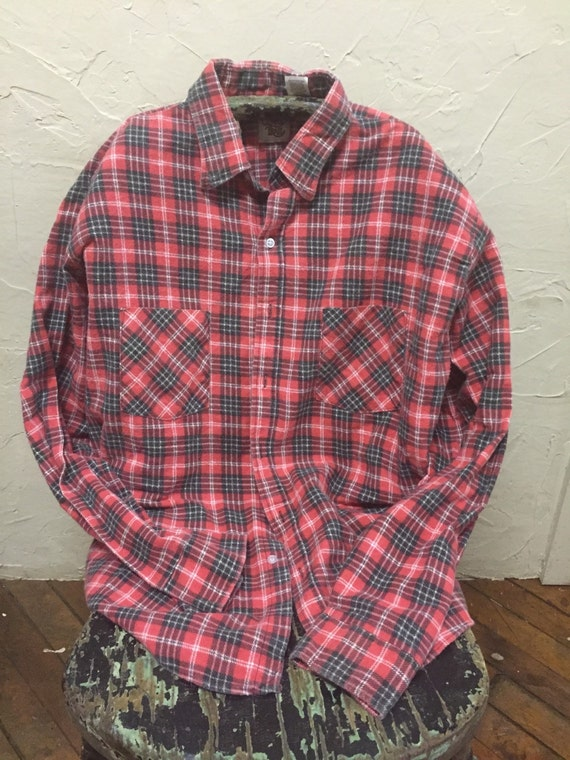 Flannel shirt vintage wash soft cotton made in usa for Super soft flannel shirts