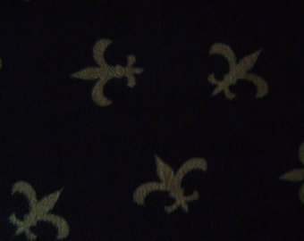 Fleur de Lis AntiPill Fleece Fabric Sold by the Yard