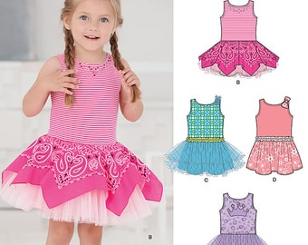 New Look Pattern 6255 Toddlers' dress with knit bodice