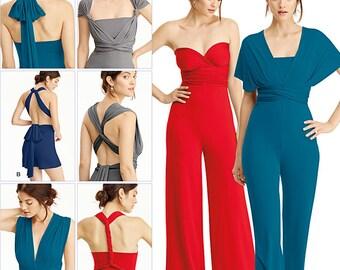Simplicity Pattern 8095 Misses' Knit Wrap and Tie Jumpsuit