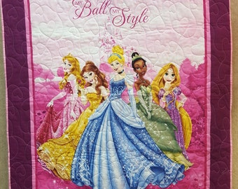 Disney Princesses Quilt Toddler Baby Blanket FREE SHIPPING!