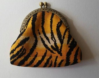 Animal print change purse coin purse credit card purse