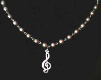 Pewter and Silver Pearls Wrap Necklace or Bracelet