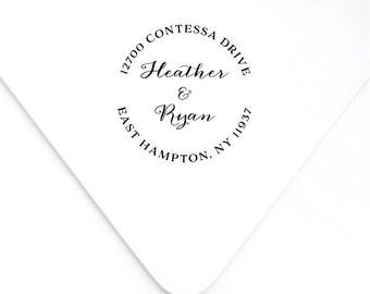 Custom Address Stamp, Rubber Address Stamp, Calligraphy Stamp, Return Address Stamp, Address Stamp, Personalized Stamp, Wedding Stamp