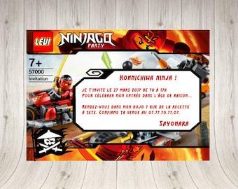 Lego Ninjago customizable invitation