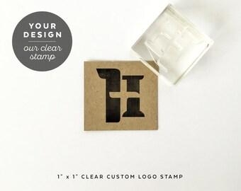Custom logo stamp etsy for Custom acrylic blocks